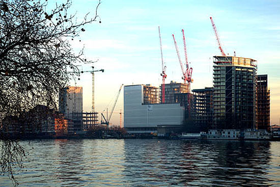 Monarflex Scaffband Flamesafe, flame retardant scaffold sheeting specified for prestigious London development